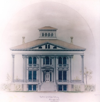 Bellamy Mansion drawing by Bunnell